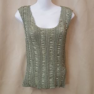 Dressbarn sage green and top size small